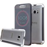 Grijs HTC 10 Ice View Smart Fingerproof Hoesje