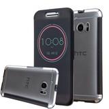 Zwarte HTC 10 Ice View Smart Fingerproof Hoesje
