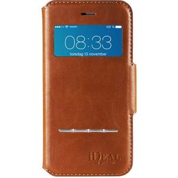 iDeal Of Sweden Swip Wallet Case Handgemaakte Hoesje voor iPhone 6 / 6S - Bruin