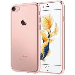 Apple iPhone 7 Transparant TPU Hoesje Roze Goud