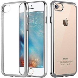 Apple iPhone 7 Transparant TPU Hoesje Zilver