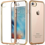 Apple iPhone 7 Transparant TPU Hoesje Goud