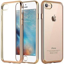 Apple iPhone 7 Transparant TPU Hoesje Goud