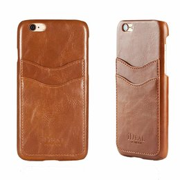 iDeal Of Sweden Backcover Wallet Brown Leather voor Apple iPhone 6 / 6S