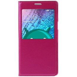 Samsung Galaxy J5 Hoesje S-view Cover - Roze