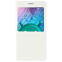 Samsung Galaxy J5 Hoesje S-view Cover - Wit