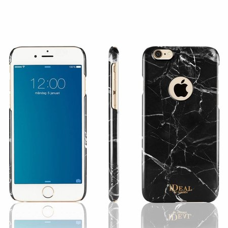iDeal Of Sweden Fashion Marmer Back Cover Zwart voor Apple iPhone 6 / 6S