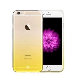 FSHANG iPhone 7 Rainbow Series Tweekleurig TPU Hoesje Oranje
