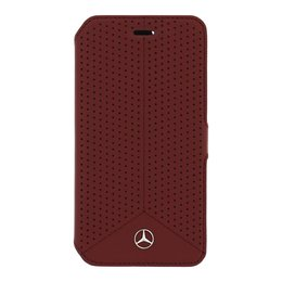 Mercedes-Benz Leather Book Case voor Galaxy S6 Rood