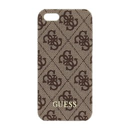 GUESS 4G iPhone SE / 5S / 5 Hard Case Bruin