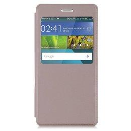 Huawei P8 Lite Smart / GR3 Hoesje Window View Case - Goud