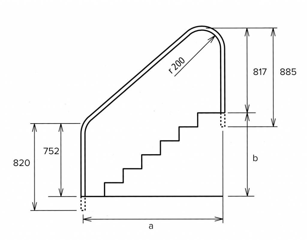 Leuning om naast trap te plaatsen for Plaatsen trap