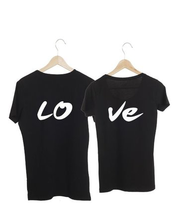 COUPLE T-SHIRTS LO-VE (LO HEREN)