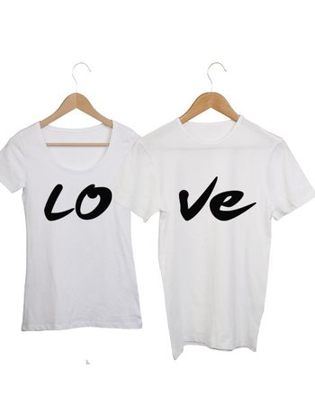 COUPLE T-SHIRTS LO-VE (LO DAMES)