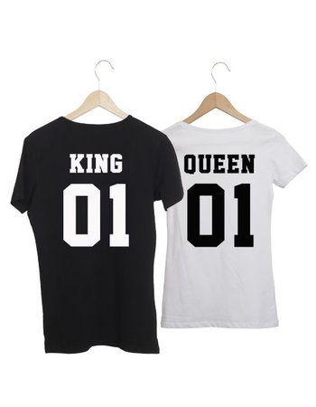COUPLE T-SHIRTS KING & QUEEN