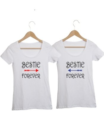 COUPLE T-SHIRTS BESTIE FOREVER