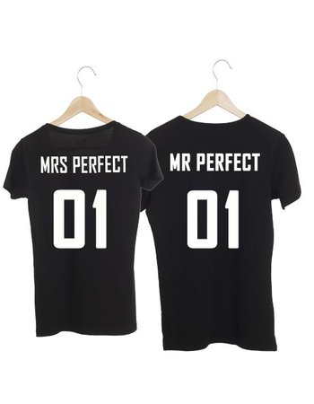 COUPLE T-SHIRTS MR - MRS PERFECT