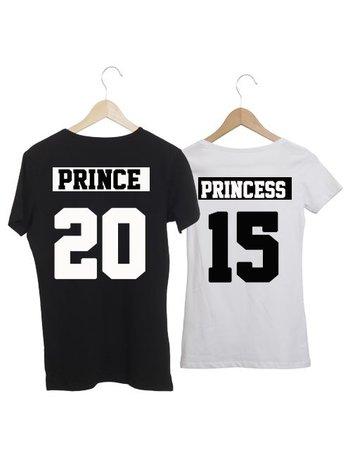 COUPLE T-SHIRT PRINCE - PRINCESS