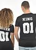 T-SHIRT PRINT TYPE KING & QUEEN