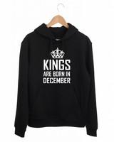 HEREN HOODIE KINGS ARE BORN IN (MAAND)