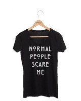 DAMES T-SHIRT NORMAL PEOPLE SCARE ME