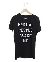 HEREN T-SHIRT NORMAL PEOPLE SCARE ME