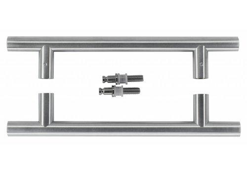 Door handle T 20/200/300 inox plus pair for glass