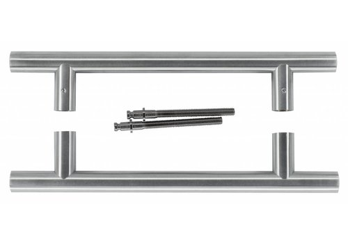 Türgriff T 20/200/300 INOX-Paar für Türstärke> 3 cm