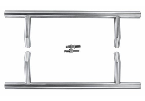 Door handle STCOT 25/300/460 inox plus pair for glass