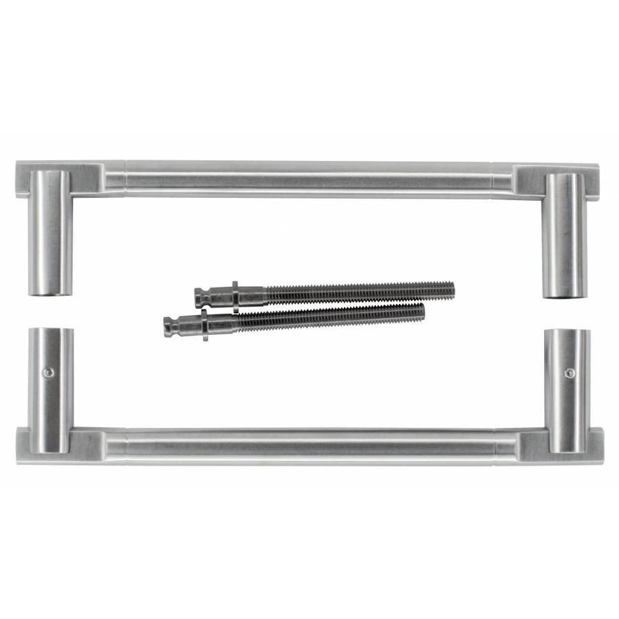goedkope inox design deurgrepen voor uw glazen deuren. Black Bedroom Furniture Sets. Home Design Ideas