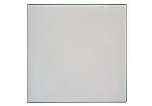 GLAS RETRO VIERKANT DOORZICHTIG 255X255X6MM