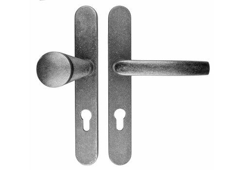 Sicherheitstürgriffe Altes silber Safe griffe+gipfel Nutengröße 92 mm