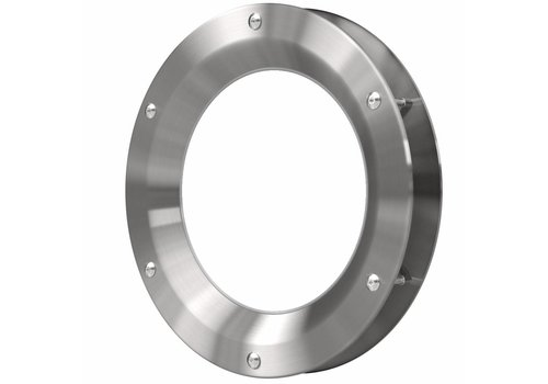 Inox patrijspoort B1000 500 mm + doorzichtig veiligheidsglas
