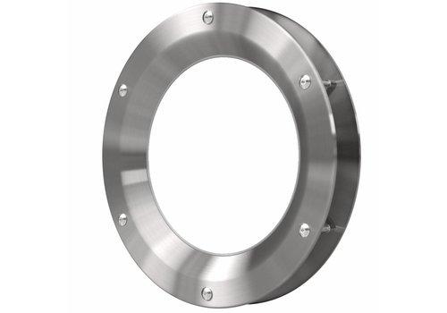 Inox patrijspoort B1000 350 mm + doorzichtig veiligheidsglas