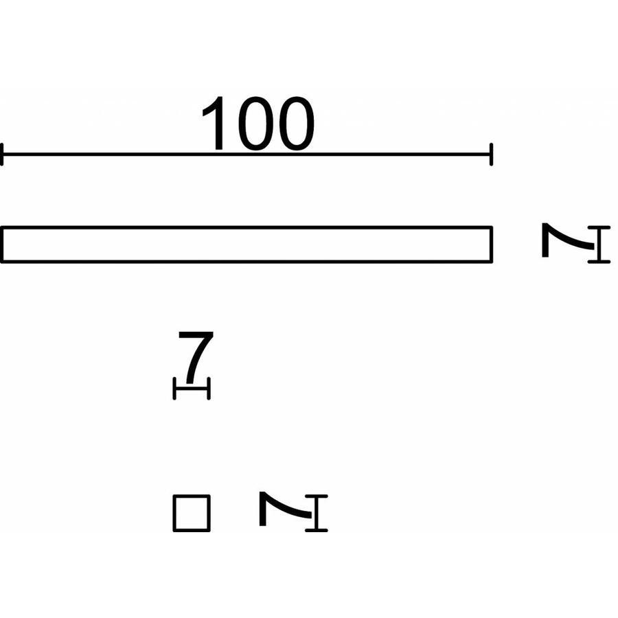 Stift 7x7x100 mm klem