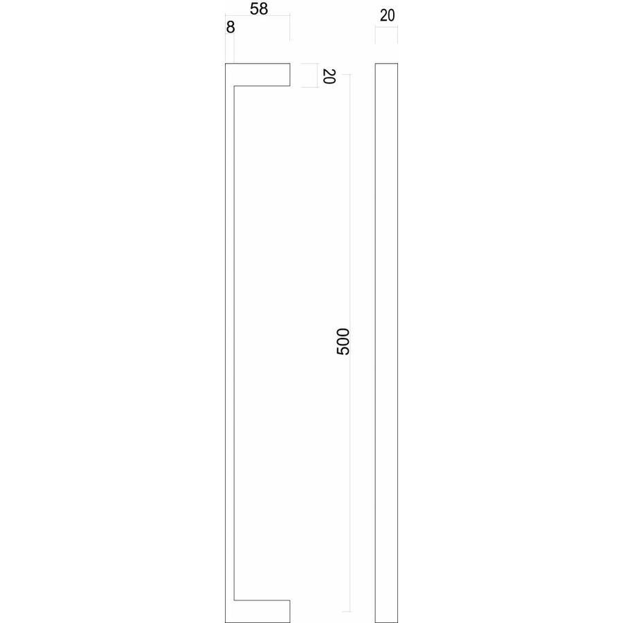 Trekker Cosmic 20/500 inox plus deurdikte > 3 cm