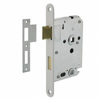 Wc slot wit met asmaat 63/8mm, afgeronde voorplaat 20x175mm, doorn 50mm incl. sluitplaat