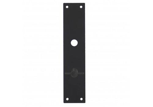 Intersteel Zwart renovatie schild rechthoekig 250x55x2mm WC 63/8mm