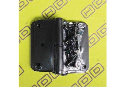 HDD Paumel Skin 80x80x2,5 zwart font rechts 3 stuks + vijs