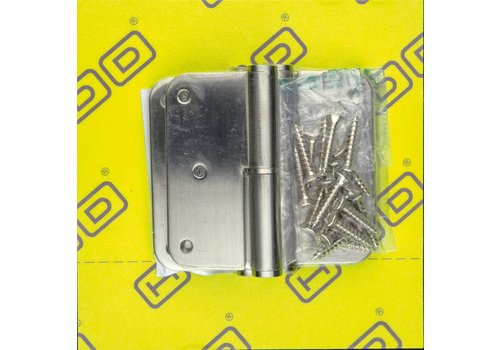 HDD Paumel Skin 76x76x2,5 inox 201 rechts 3 stuks + vijs