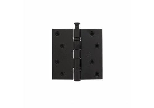 Intersteel Kogelscharnier recht 89x89x2,5 RVS zwart