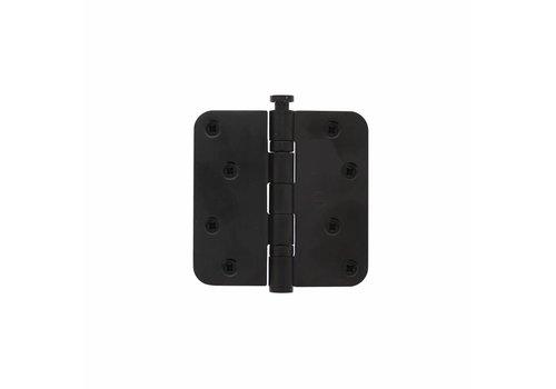 Intersteel Kogelscharnier afgerond 89x89x2,5 RVS zwart