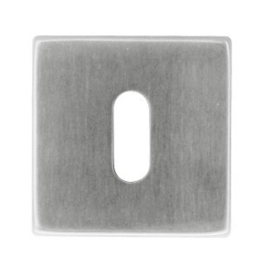 1 Sleutelplaatje Kubic shape inox plus