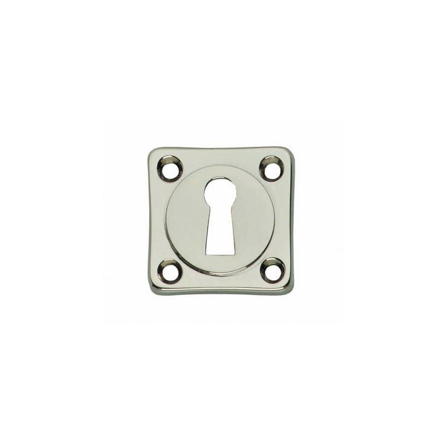 1 Sleutelplaatje vierkant basic nikkel
