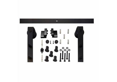Schuifdeursysteem Basic voorzijde mat zwart