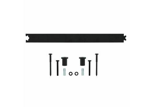 Intersteel Tussenrail 45 cm mat zwart