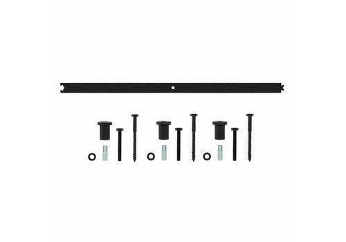 Intersteel Zwischen Schiene matt 90 cm schwarz
