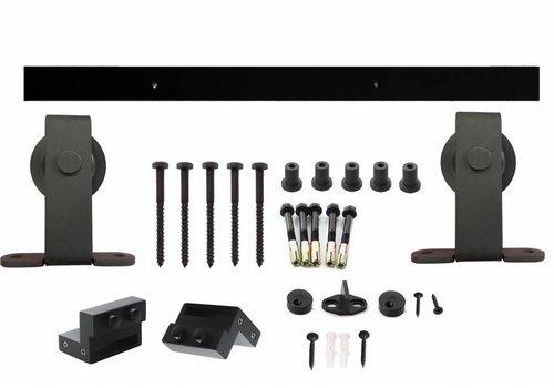 Schuifdeursysteem Basic bovenzijde mat zwart