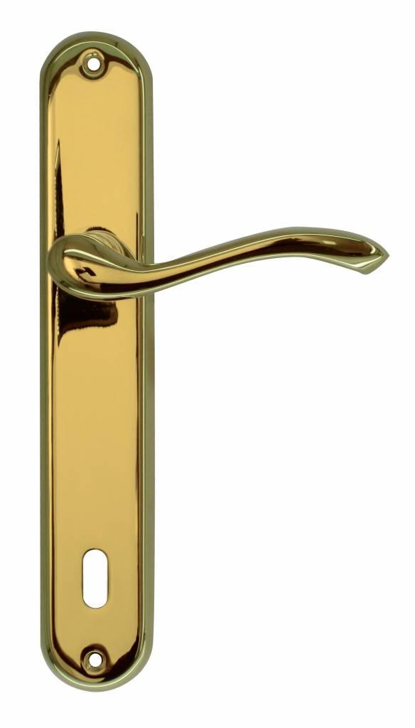 Hdd poign e de porte erica titanium sur la plaque deurklinkenshop - La poignee de porte paroles ...