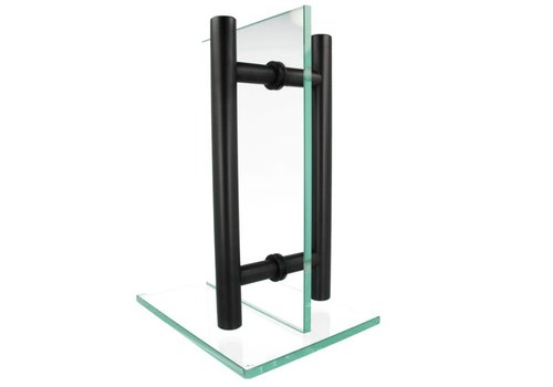 Türgriff T 30/200/300 schwarz Paar für Glas